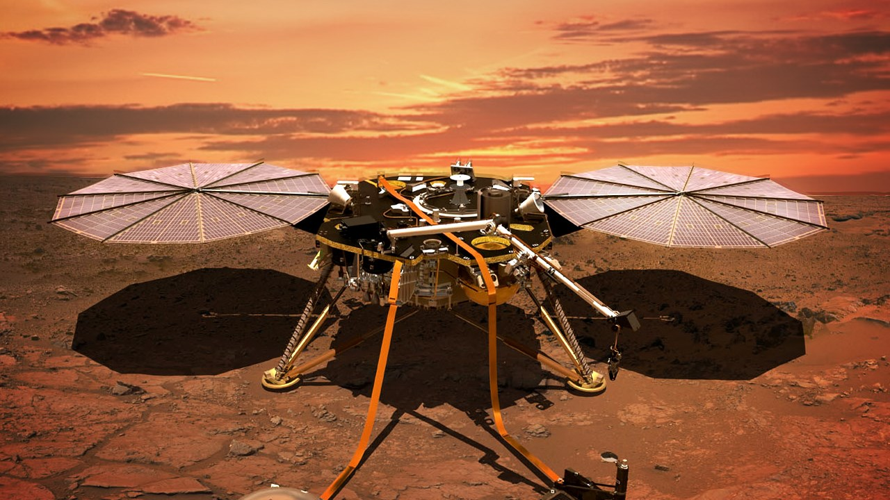 What was the name of lander spacecraft for Mars mission?