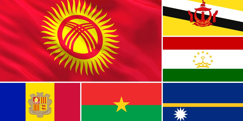 Take this flag quiz and try to recognize the these flags of those country?