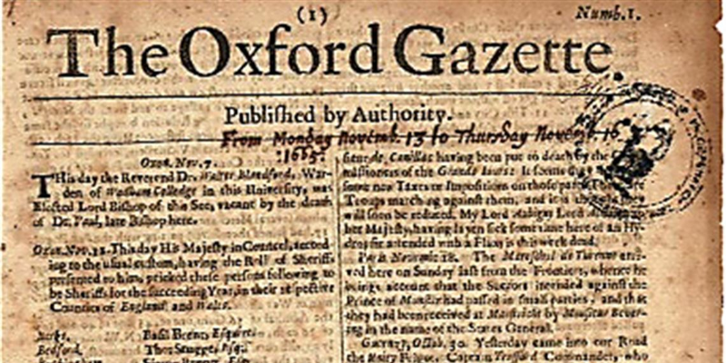 Take this quiz and see how well you know about 17th century oldest newspapers of Europ?