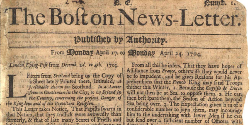Take this quiz and see how well you know about 18th Century oldest newspapers in America?