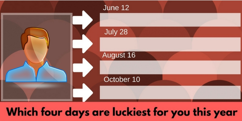 Which four days are luckiest for you this year?