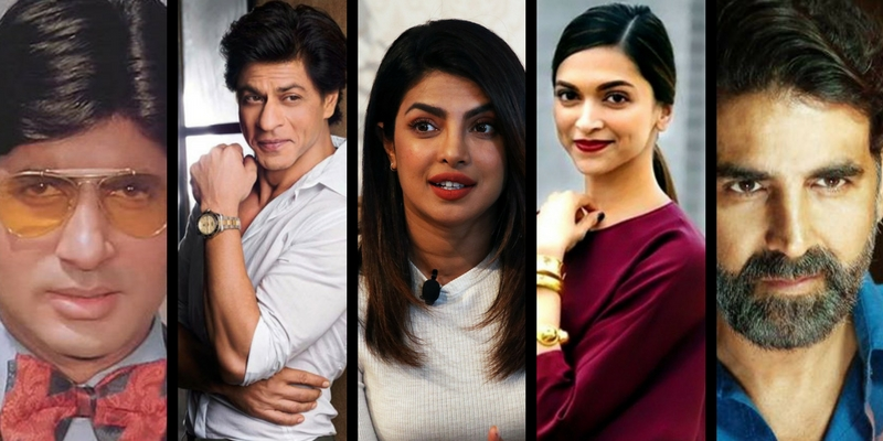 Can you name the debut movies of these famous Bollywood actors