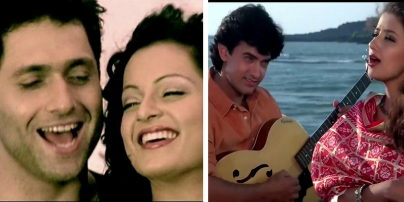Can you name the original songs from which these Bollywood songs are inspired