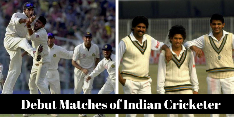 Debut matches of Indian cricket players, lets check how much you know about it