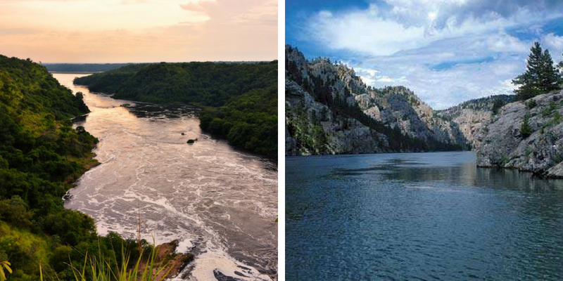 Can you tell the length of the largest and longest river of the world